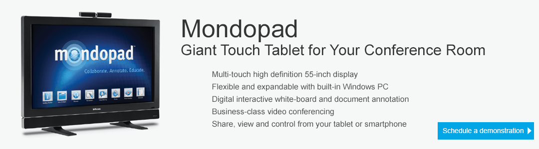 Mondopad - Giant Touch Tablet for your Conference Room